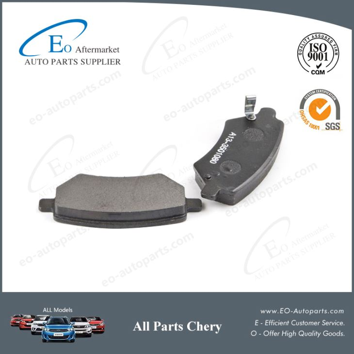 High Quality Front and Rear Brake Pads Chery A13A A13-3501080