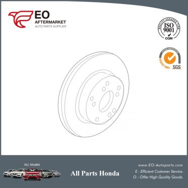 Front Disc Brake Rotor For 2015-17 Honda Accord Sedan & Coupe EXL-V6 45251-T2G-A01