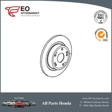 Rear Disc Brake Rotor For 2013-17 Honda Accord Sedan & Coupe EX, EXL-V6 42510-T2F-A00