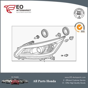 Headlights / Headlamps For 2015-17 Honda Accord Sedan EX, EX-L, XL-V6 33100-T2A-A81