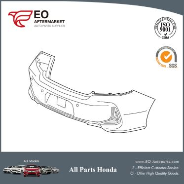 Rear Bumper Face For 2016-17 Honda Accord Coupe EX, EX-L, EXL-V6 71501-T3L-A50ZZ