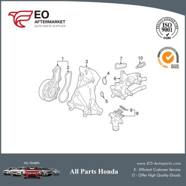 Water Pump Assembly For 2013-17 Honda Accord Coupe & Seden 19200-5A2-A01