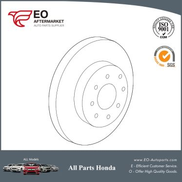 Brake Rotor / Disk Front For 2015-2017 Honda Fit 5-Door EX, LX 45251-T5R-A02