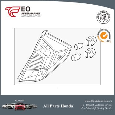 Tail Light Assy, L For 2015-17 Honda Fit 5-Door EX, EX-L, EX-LN, LX 33550-T5A-A11