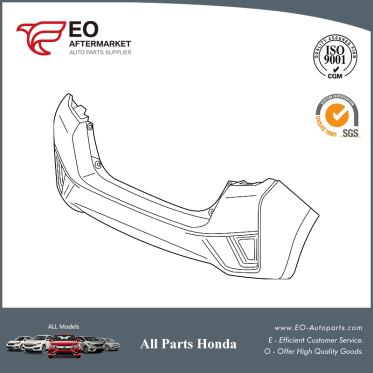 Bumper Rear For 2015-2017 Honda Fit 5-Door EX, EX-L, EX-LN, LX 04715-T5R-A00ZZ