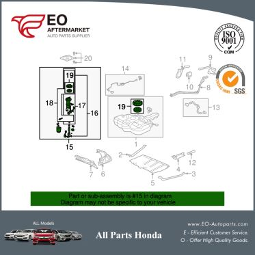 Module Assy, Fuel Pump For 2009-13 Honda Fit 5-Door, Sport, Sportn 17045-TK6-A00
